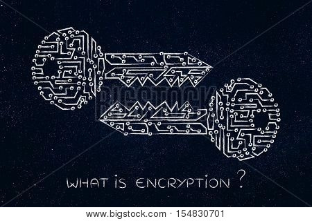 Matching Keys Made Of Electronic Circuits, Encryption & Cryptography
