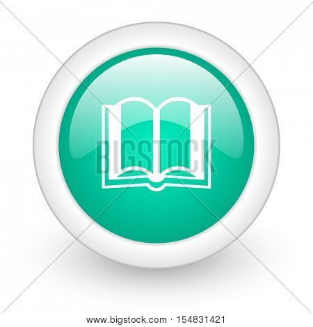 book round glossy web icon on white background