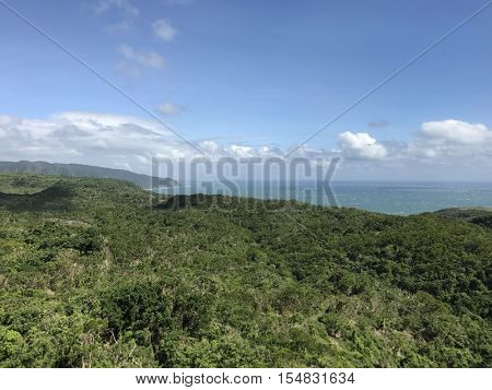 KENTING - NOVEMBER 2: The Pacific Ocean viewed from Sheding National Park on November 2, 2016 in Kenting, Taiwan.