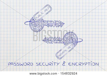 Matching Private & Public Keys Made Of Circuits, Encryption Concept