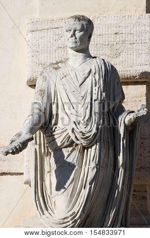 Statue of a roman Senator in Rome, Italy