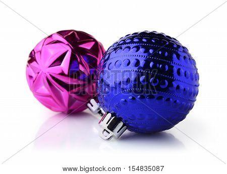 Blue And Purple Christmas Balls
