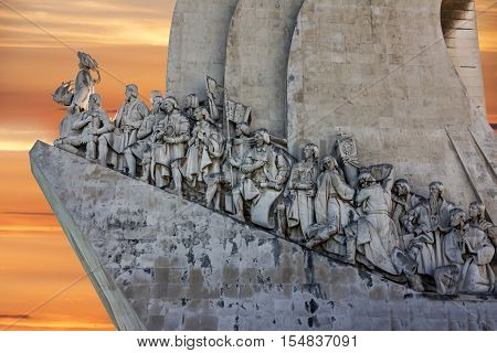Lisbon, Portugal - Sep 8, 2016: Monument to the Discoveries in Lisbon, Portugal