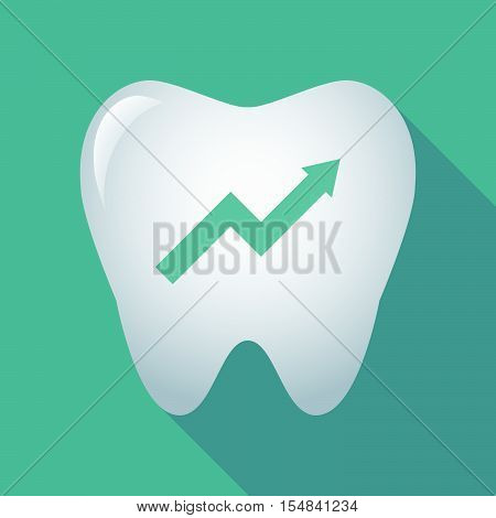 Long Shadow Tooth Icon With A Graph