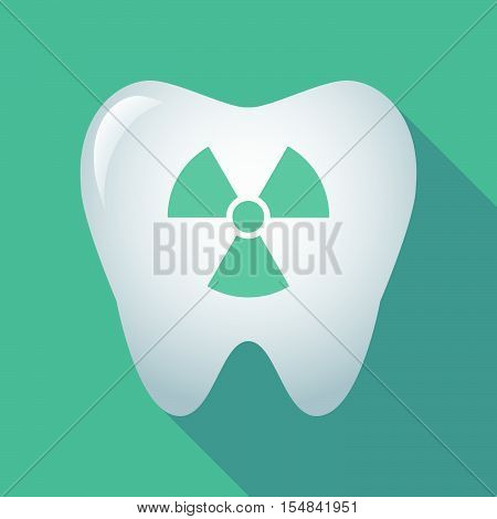 Long Shadow Tooth Icon With A Radio Activity Sign