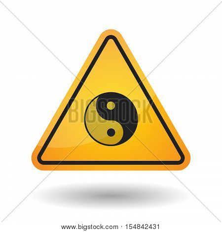 Isolated Danger Signal Icon With A Ying Yang