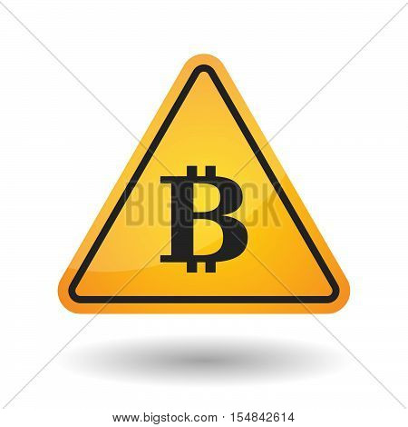 Isolated Danger Signal Icon With A Bit Coin Sign