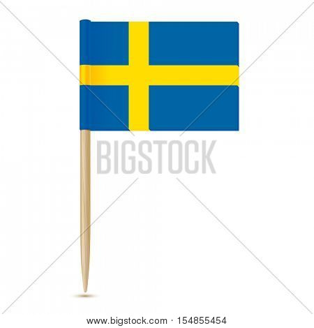 Sweden Flag. Swedish Flag toothpick 10eps. Isolated on white background
