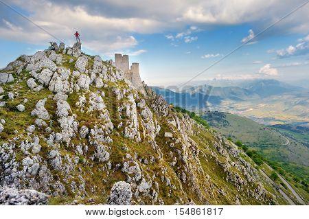 Rocca Calascio Castle At Summer Sunset, Abruzzo