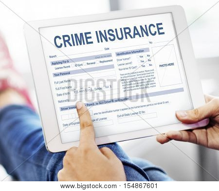 Crime Insurance Robbery Illegal Theft Security Concept