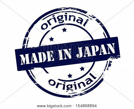 Rubber stamp with text made in Japan inside vector illustration