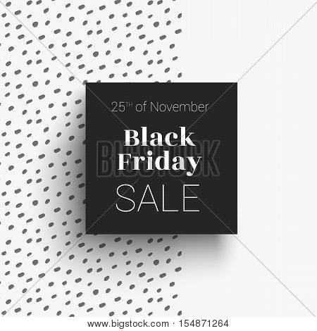 Elegant Banner sale black friday. Invitation for boutique clothing or cosmetics. Banner for fashion store discounts.