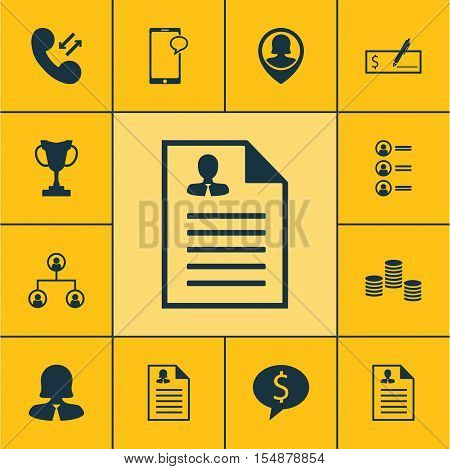 Set Of Human Resources Icons On Messaging, Business Woman And Bank Payment Topics. Editable Vector I