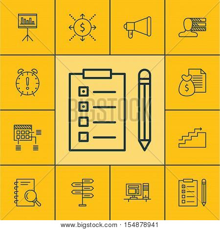 Set Of Project Management Icons On Money, Growth And Report Topics. Editable Vector Illustration. In
