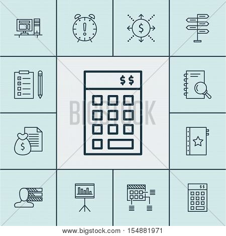 Set Of Project Management Icons On Analysis, Report And Personal Skills Topics. Editable Vector Illu