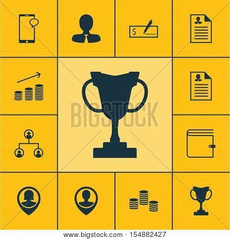 Set Of Management Icons On Money, Curriculum Vitae And Female Application Topics. Editable Vector Il