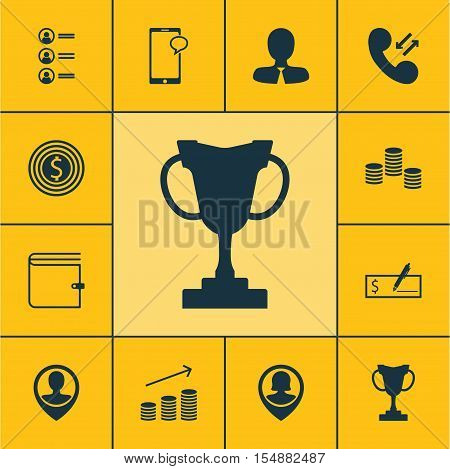 Set Of Management Icons On Manager, Pin Employee And Business Goal Topics. Editable Vector Illustrat