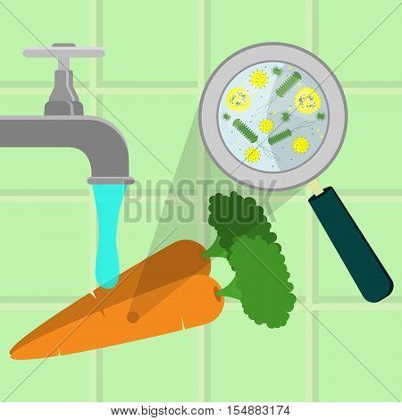 Washing Contaminated Carrots