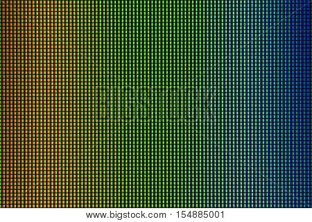 Closeup RGB led diode of led TV or led monitor screen display panel for design with copy space for text or image.