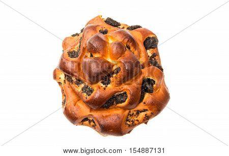 Homemade pasty bake isolated on white background