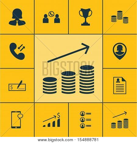 Set Of Hr Icons On Tournament, Business Woman And Money Topics. Editable Vector Illustration. Includ