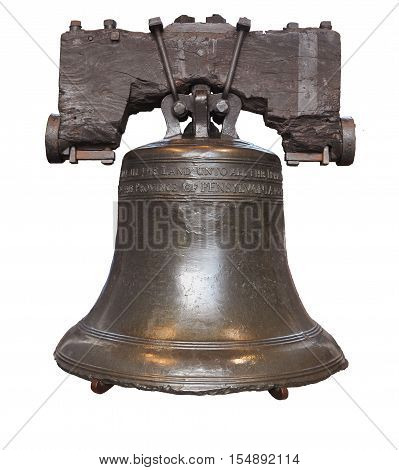 Liberty Bell isolated in Philadelphia, Pennsylvania, USA