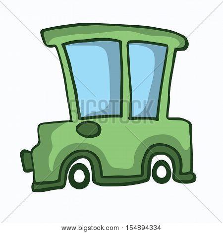 Green car design for kids vector illustration