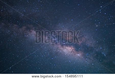 Milky Way galaxy, Long exposure photograph, with grain.High resulotion