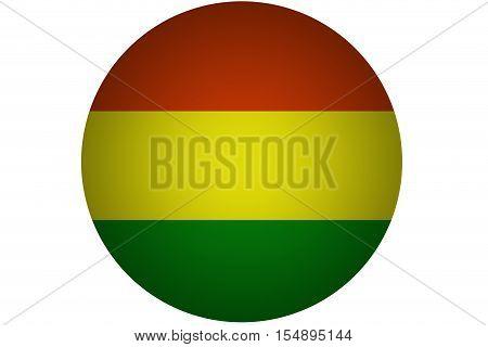 3D Bolivia flag ,Bolivia national flag illustration symbol.