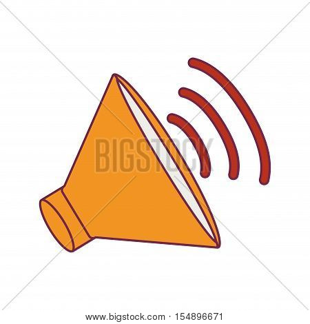 speaker audio device icon with waves. loudspeaker amplifer. vector illustration