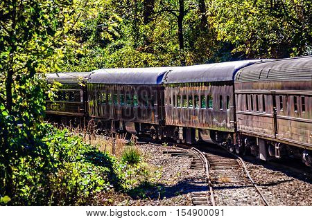 great smoky mountains rail road train ride