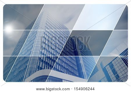 Business and architecture. Business card template. Modern design.