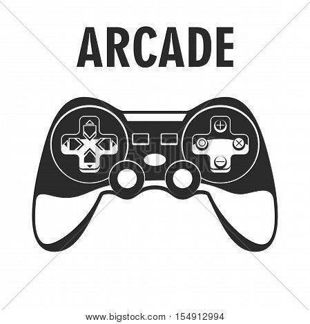 Gamepad icon. Joypad, joystick illustration isolated on white background. Vector Illustration