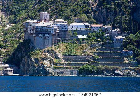 Dionissiou monastery, Athos Peninsula, Mount Athos, Chalkidiki, Greece