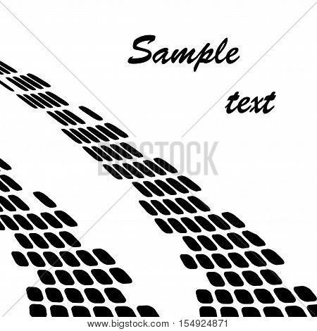 Vector pneumatic trail on white background - illustration