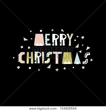 Merry Christmas greeting background. Holiday winter template card banner poster. Vector Illustration