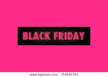 Design template with text Black Friday. Black Friday sales banner. Black Friday on pink background. Black friday design illustration. Black Friday vector illustration.