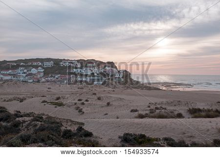 The village Monte Clerigo on the westcoast in Portugal