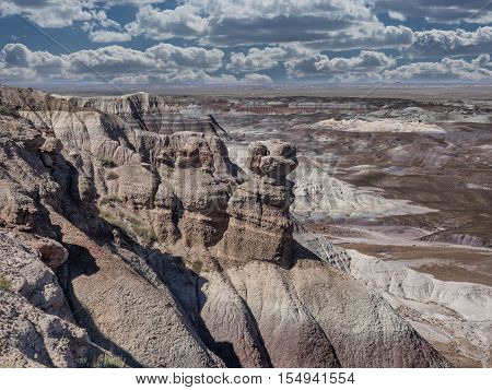 Blue Mesa in Painted Desert near Holbrook Arizona USA