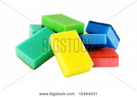 Sponge on a white background.