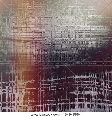 Grunge texture, aged or old style background with retro design elements and different color patterns: yellow (beige); brown; gray; red (orange); purple (violet)