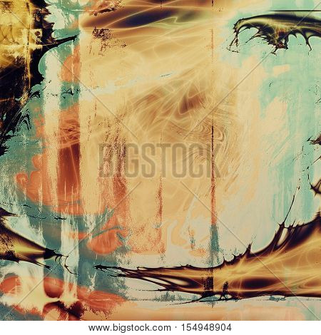 Colorful grunge background, tinted vintage style texture. With different color patterns: yellow (beige); brown; blue; red (orange); black
