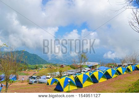 Drug exposure atmosphere atmosphere at Phu Thap withdraw. The tents are made as close to nature.