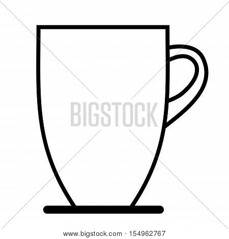 silhoutte of coffee mug icon over white background. caffeine drink. vector illustration