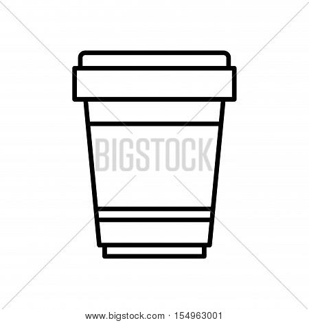 coffee mug  icon over white background. caffeine takeway drink. vector illustration