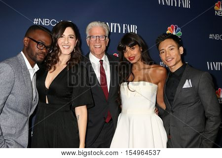 LOS ANGELES - NOV 2:  The Good Place Cast members at the NBC And Vanity Fair Toast the 2016-2017 TV Season at NeueHouse Hollywood on November 2, 2016 in Los Angeles, CA