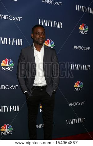 LOS ANGELES - NOV 2:  Sterling K Brown at the NBC And Vanity Fair Toast the 2016-2017 TV Season at NeueHouse Hollywood on November 2, 2016 in Los Angeles, CA