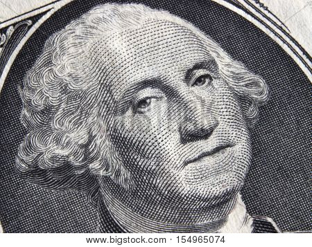 Dollar Bill currency US paper finance close up face