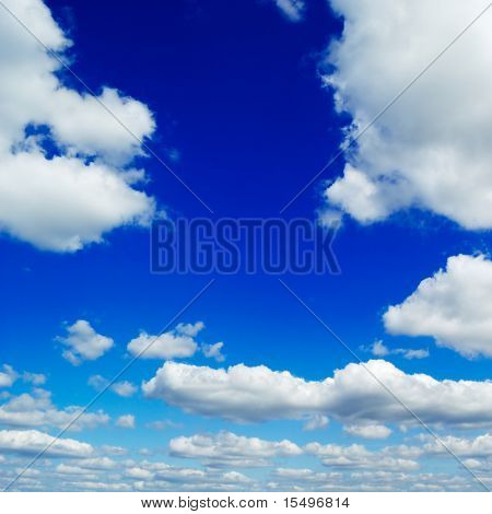 blue sky is covered by clouds