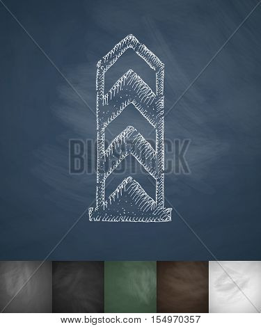 boundary monument icon. Hand drawn vector illustration. Chalkboard Design